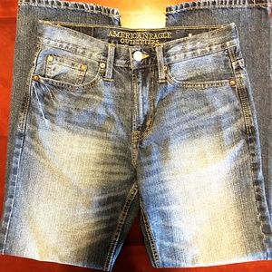 American Eagle Mens 28 X 28.5 Relaxed Straight Leg